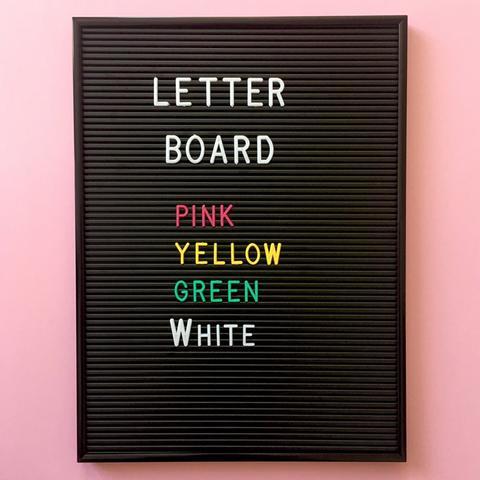 Tea Pea Letter Board