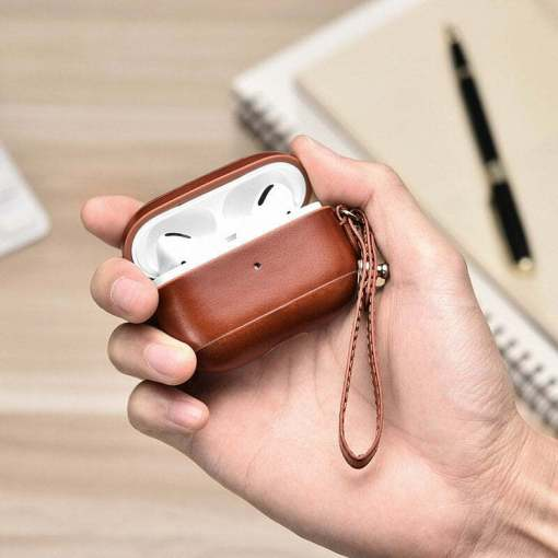 iCARER Genuine Leather Case Cover for AirPods Pro 3rd Gen