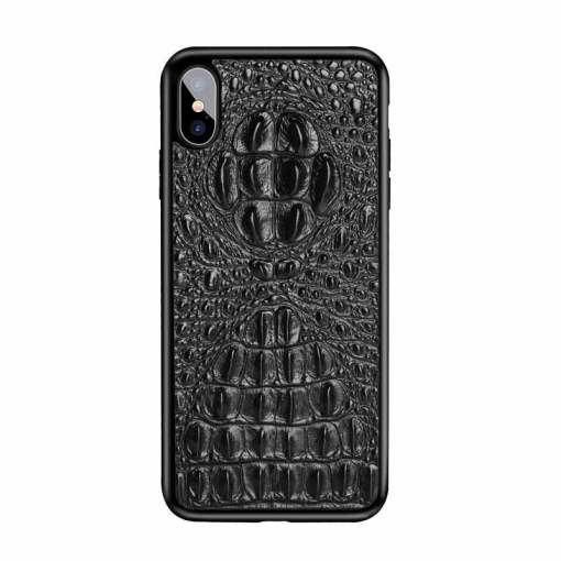 Real Croc Leather iPhone 12 11 Pro Max XS 7 8 Plus Case Skull Hornback Skin