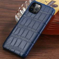Genuine Real Crocodile Belly Skin Case For iPhone 12 11 Pro Max Alligator Cover
