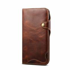 Genuine Leather Wallet Flip Case for iPhone 11 12 Pro Max XS 7 8 Plus