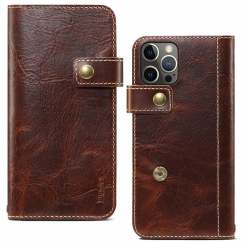 Genuine Leather Wallet Case for iPhone 11 12 Pro Max Mini XS XR 8 Plus
