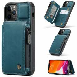 Leather Magnetic Wallet iPhone Case - Card Holder Cover