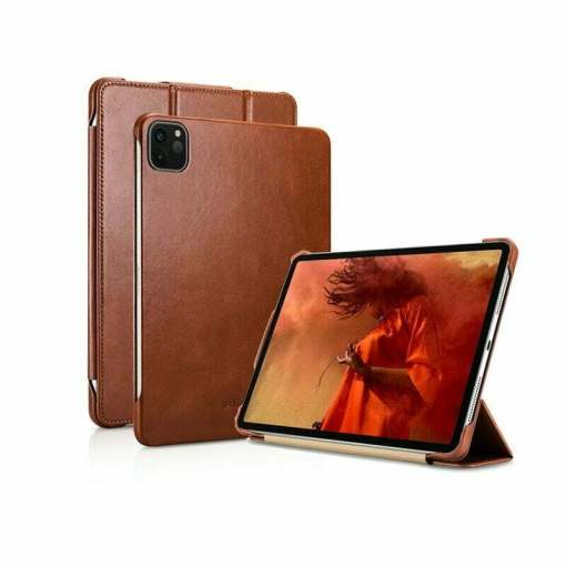 """iCARER Genuine Leather Stand Flip Case for iPad Pro 11"""" 12.9 inch"""