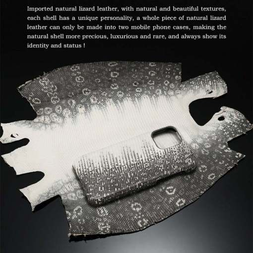 Natural Real Lizard Skin Case for iPhone 12 11 Pro Max