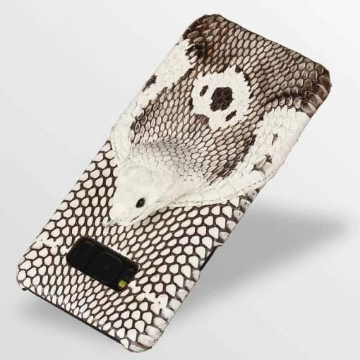 Real Snake Skin Python Samsung Galaxy S21 Ultra Note 20 Case - Head Skin