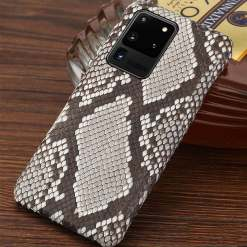 Genuine Real Snakeskin Samsung Galaxy Note 20 S21 Ultra Cases