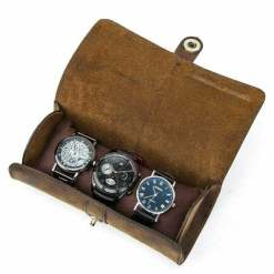 Watch Roll Display Box Leather Travel Case