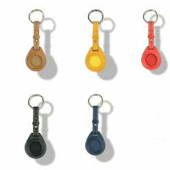 Leather Airtag Key Ring