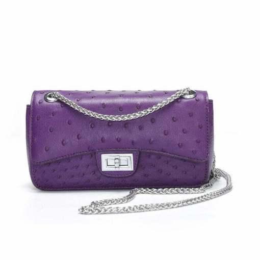 Women's Ostrich Handbag Shoulder Bag Tote Purse