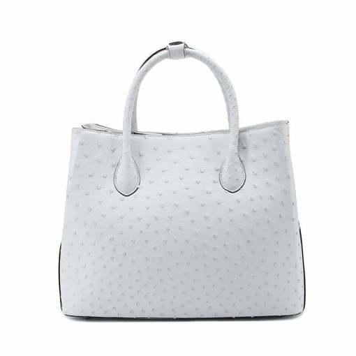Women's Ostrich Handbag Shoulder Bag Tote Purse White