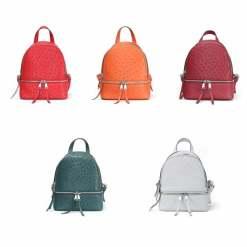 Genuine Ostrich Backpack for Women Elegant Ladies Travel Shoulder Bag