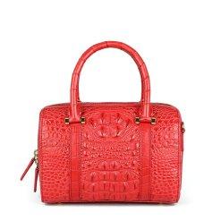 Genuine Crocodile Hornback Skin Women's Handbag Shoulder Bag Red