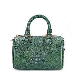 Genuine Crocodile Womens Handbag Alligator Shoulder Dark Green
