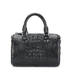 Genuine Crocodile Womens Handbag Alligator Shoulder Black