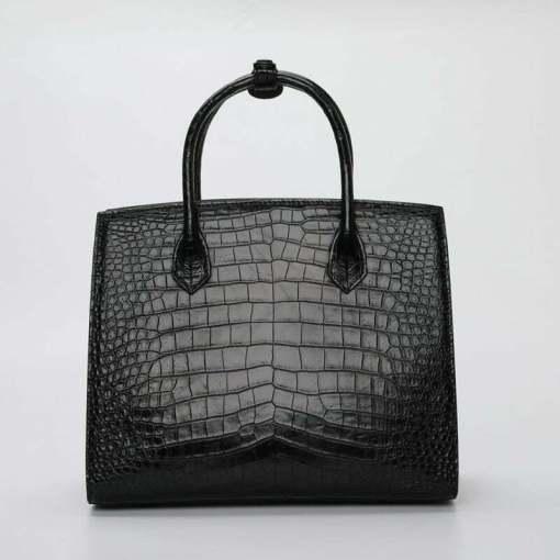 Real Crocodile Leather Women's Handle Shoulder Bag Alligator Tote