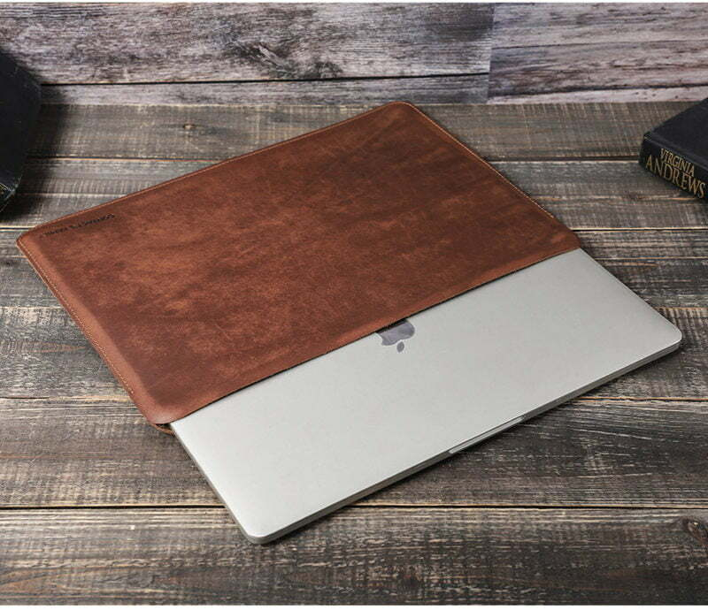 Genuine Leather Sleeve Case for MacBook Pro 13.3