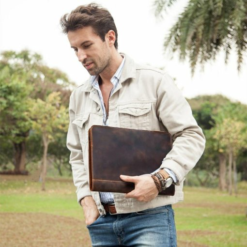 """Leather Case for Macbook Pro 13.3"""""""