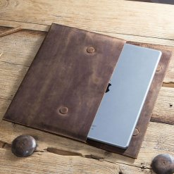 Cowhide Leather Sleeve Case for iPad Pro 12.9