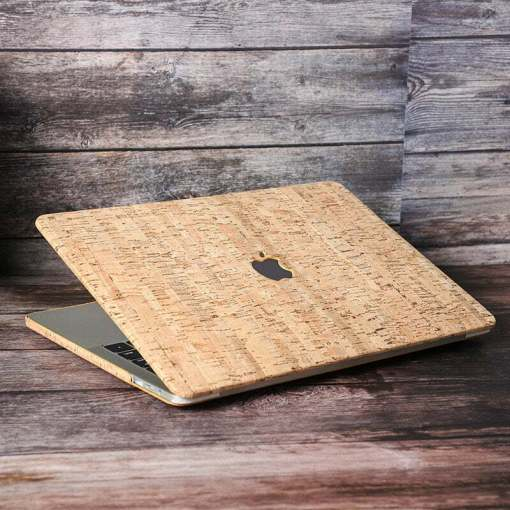Wood Texture Pattern Laptop PU Leather Case for MacBook Pro 13.3 inch
