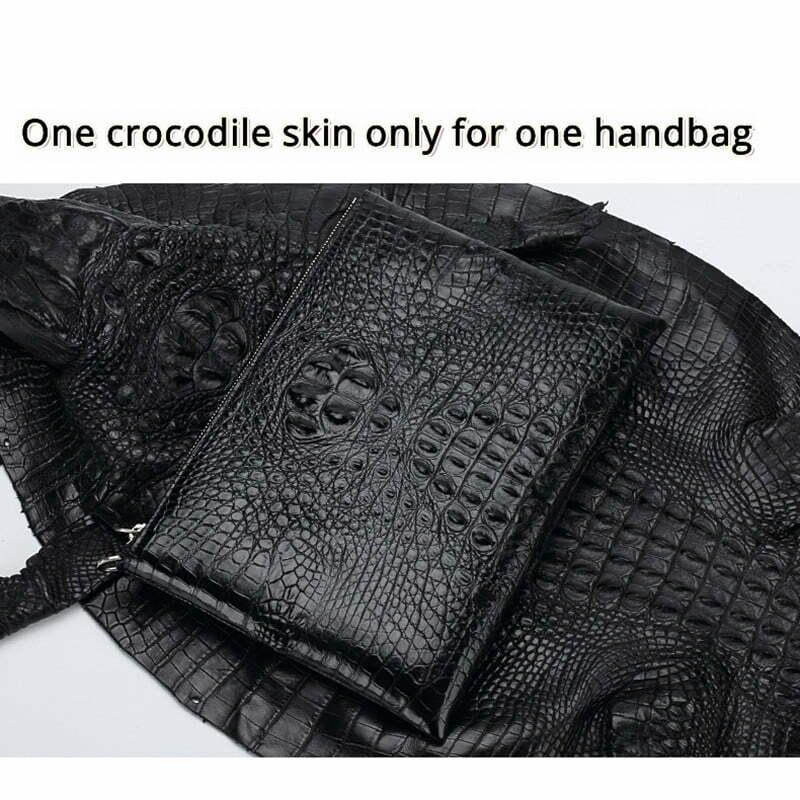 Real Crocodile Skin Mens Clutch Bag Alligator Pouch