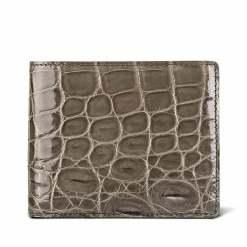 Genuine Crocodile Skin Men's Billfold Wallet Khaki