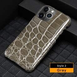 Genuine Luxury Crocodile Leather iPhone 12 Pro Max Case