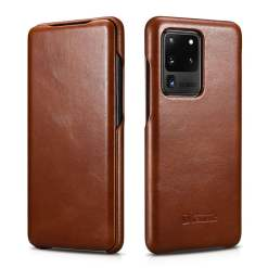 ICARER Genuine Leather Case for Samsung Galaxy S20 Ultra S10 Plus Note 9