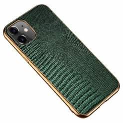 Lizard Pattern Genuine Leather Case For iPhone 12 Pro Max Mini
