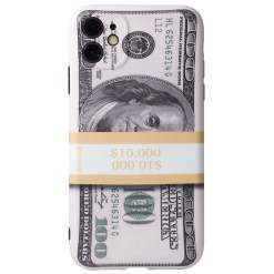 Cartoon Many 100 Dollars Print Soft Case for iPhone 12 Pro Max