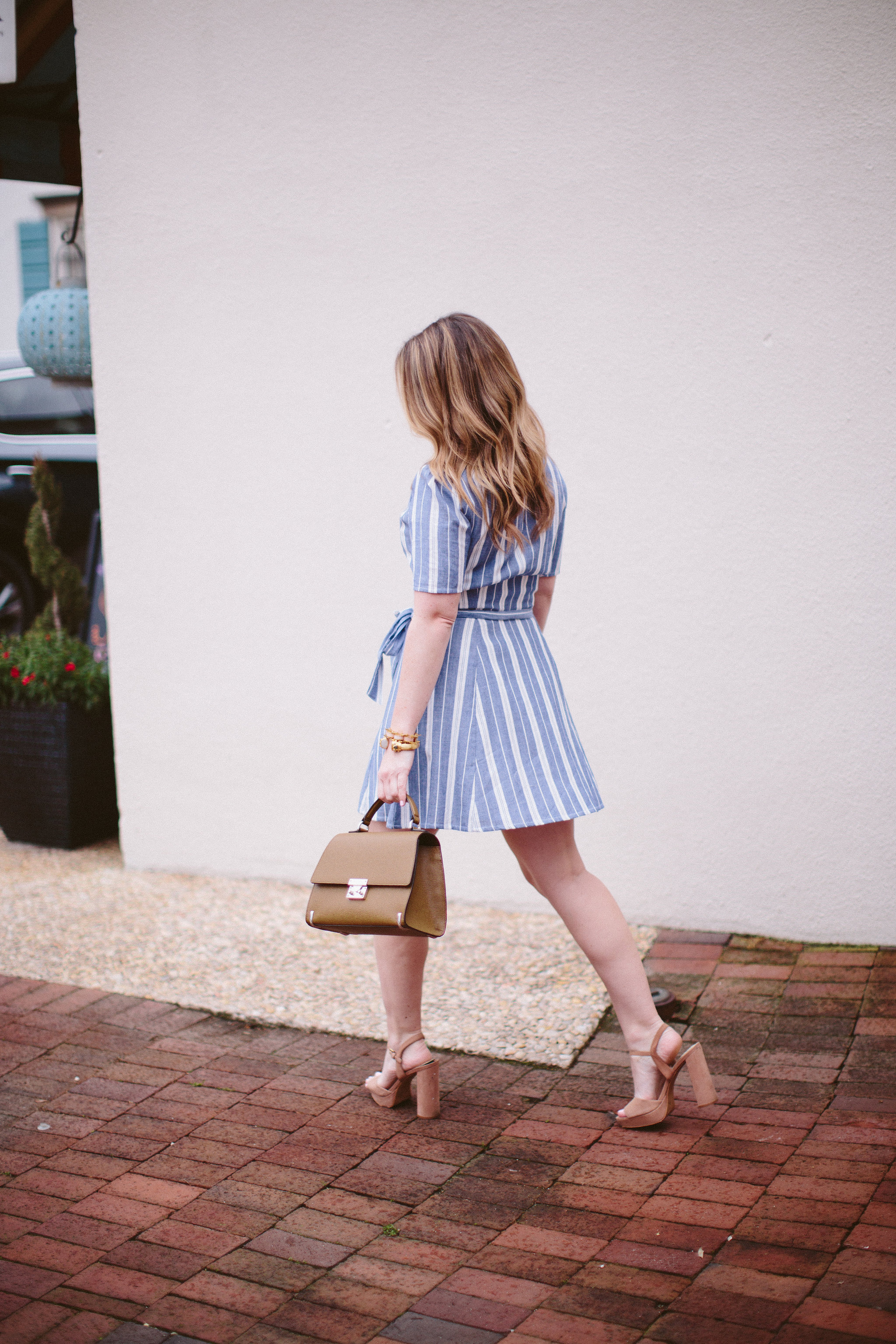 Striped Dress, Henri Bendel