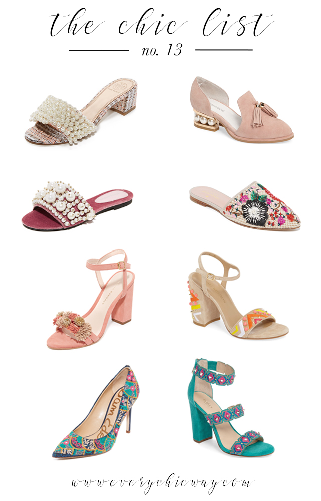 Embellished Shoes, The Chic List