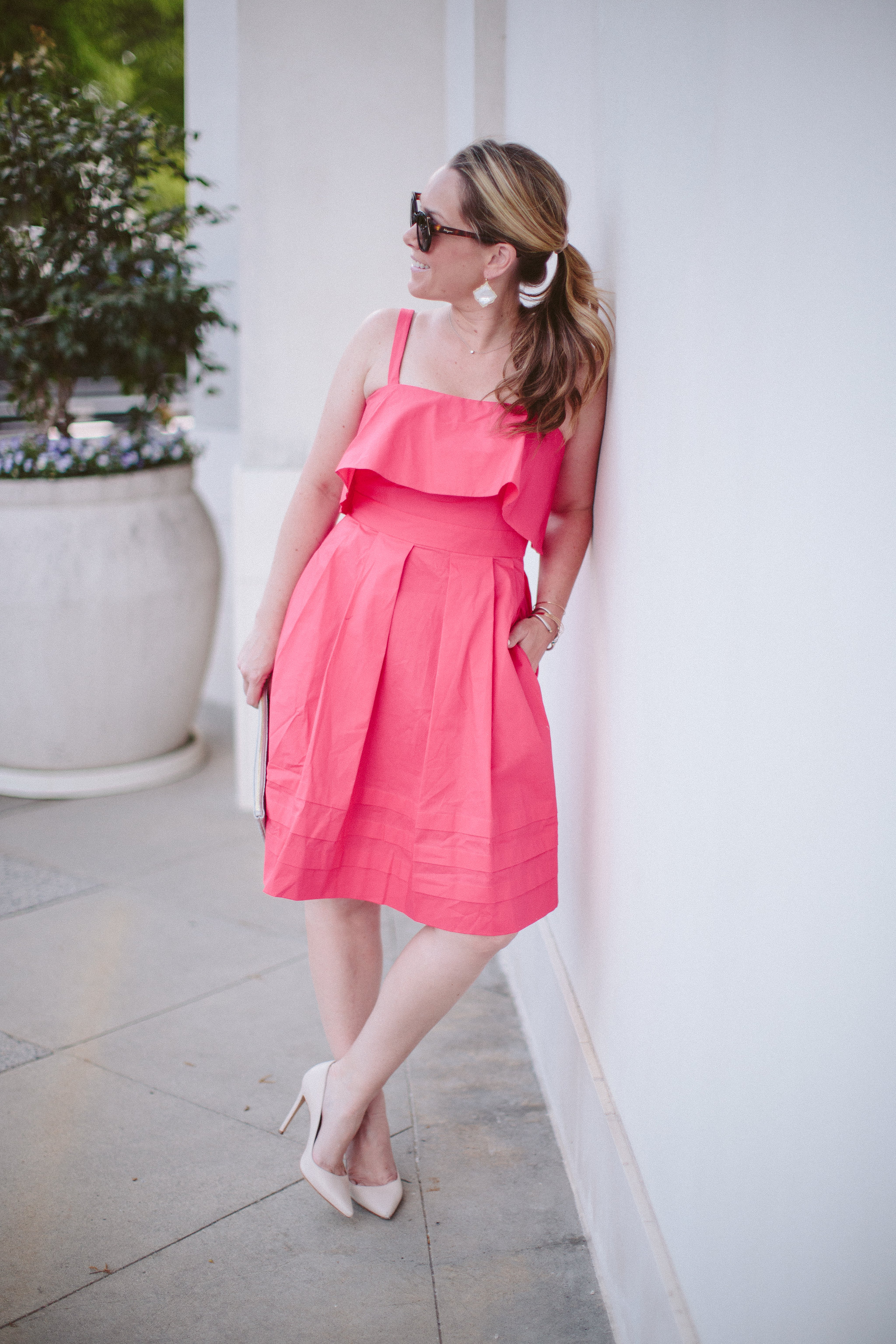 Eliza J Fit and Flare Dress by Charlotte fashion blogger Every Chic Way
