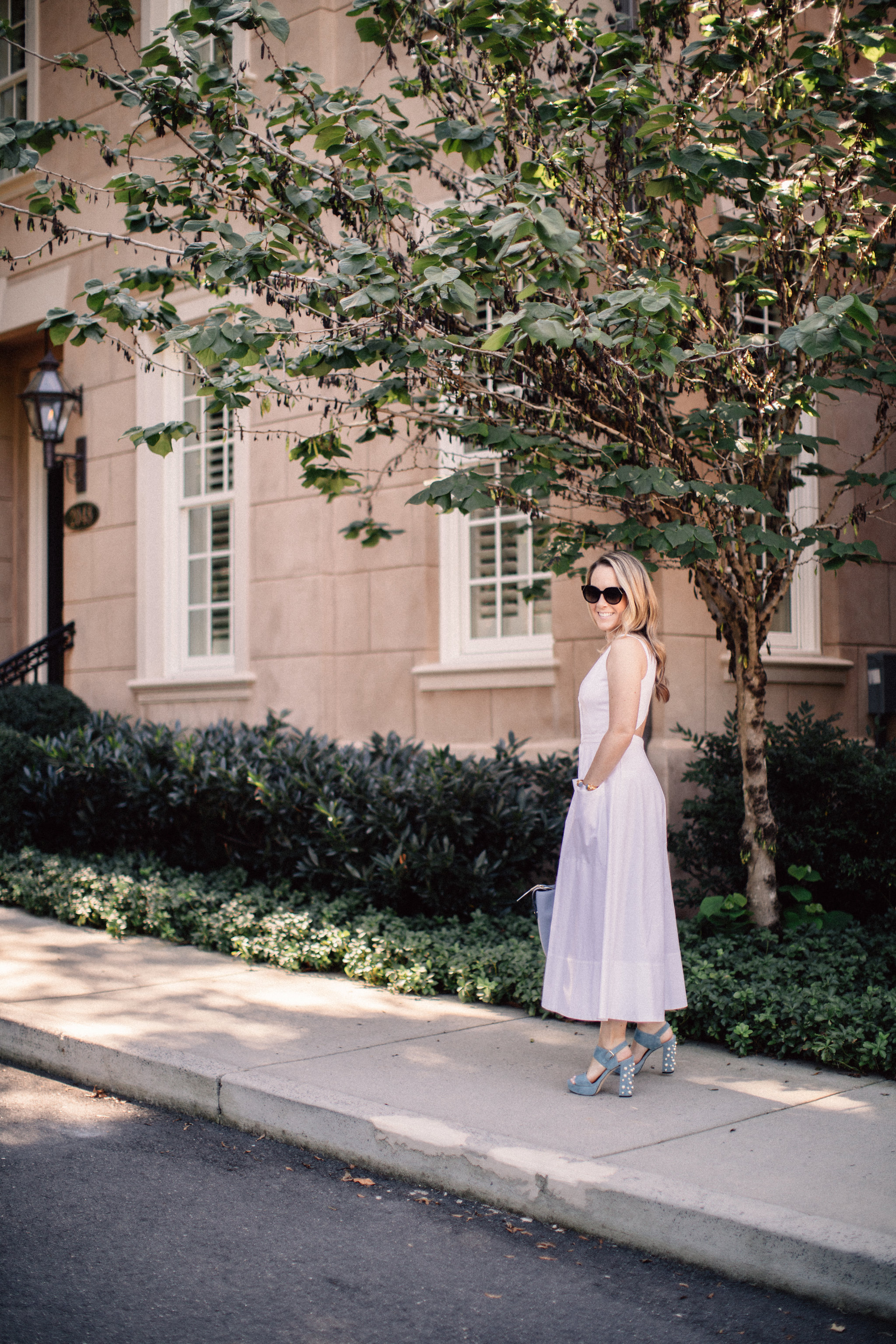 Little White Button Down Dress by NC fashion blogger Every Chic Way