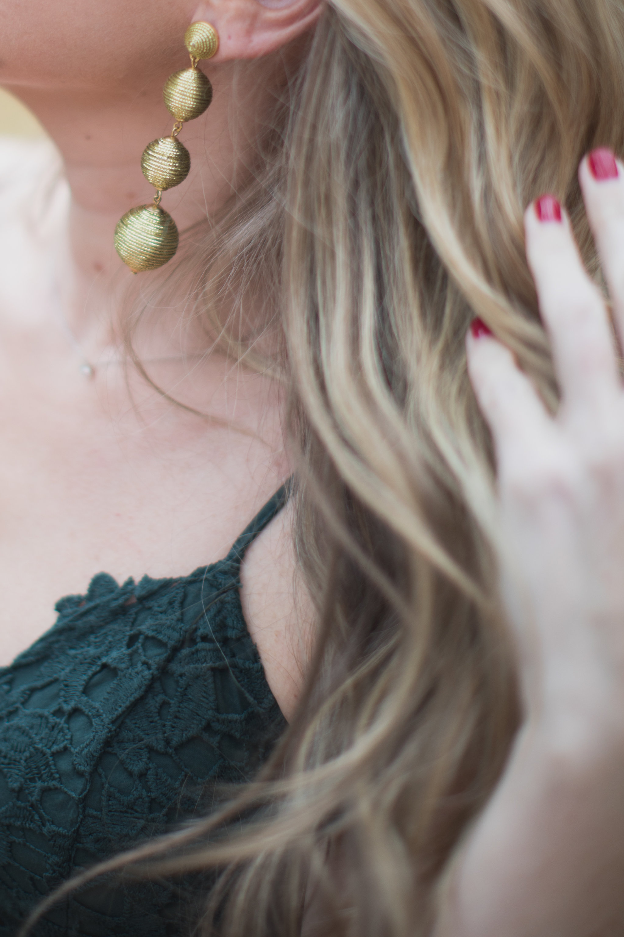The perfect earrings for the holiday season! - The Perfect Holiday Dress under $100 by North Carolina fashion blogger Every Chic Way