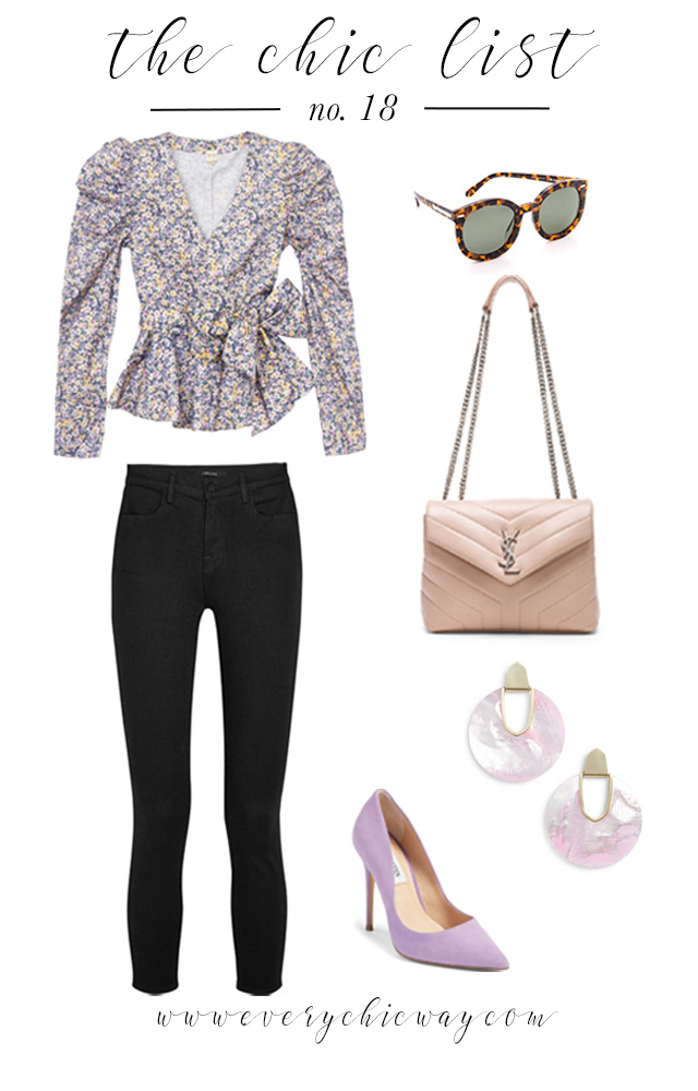 This edition of The Chic List is all about the perfect date night look. With Spring around the corner, I am combining florals and pastels for the ideal outfit!
