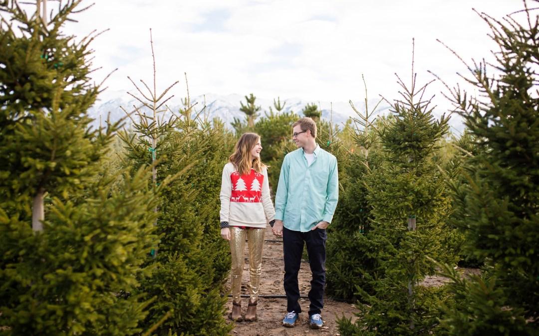Charming Christmas Tree Photoshoot