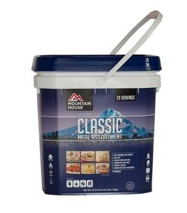 Emergency Survival Food Preparation - Mountain House Freeze Dried Food Bucket