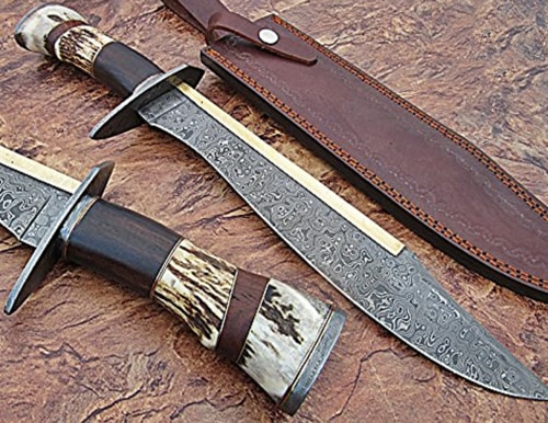 Best Hunting Knife - Custom Handmade Damascus Steel Hunting Knife 2