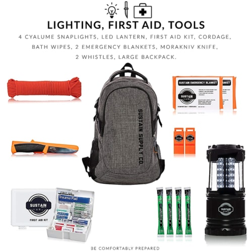 Home Defense Plan - Essential 2 Person Emergency Survival Bag