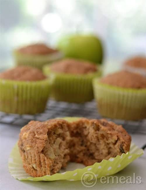 Delicious homemade apple muffins are healthy to eat and easy on the budget