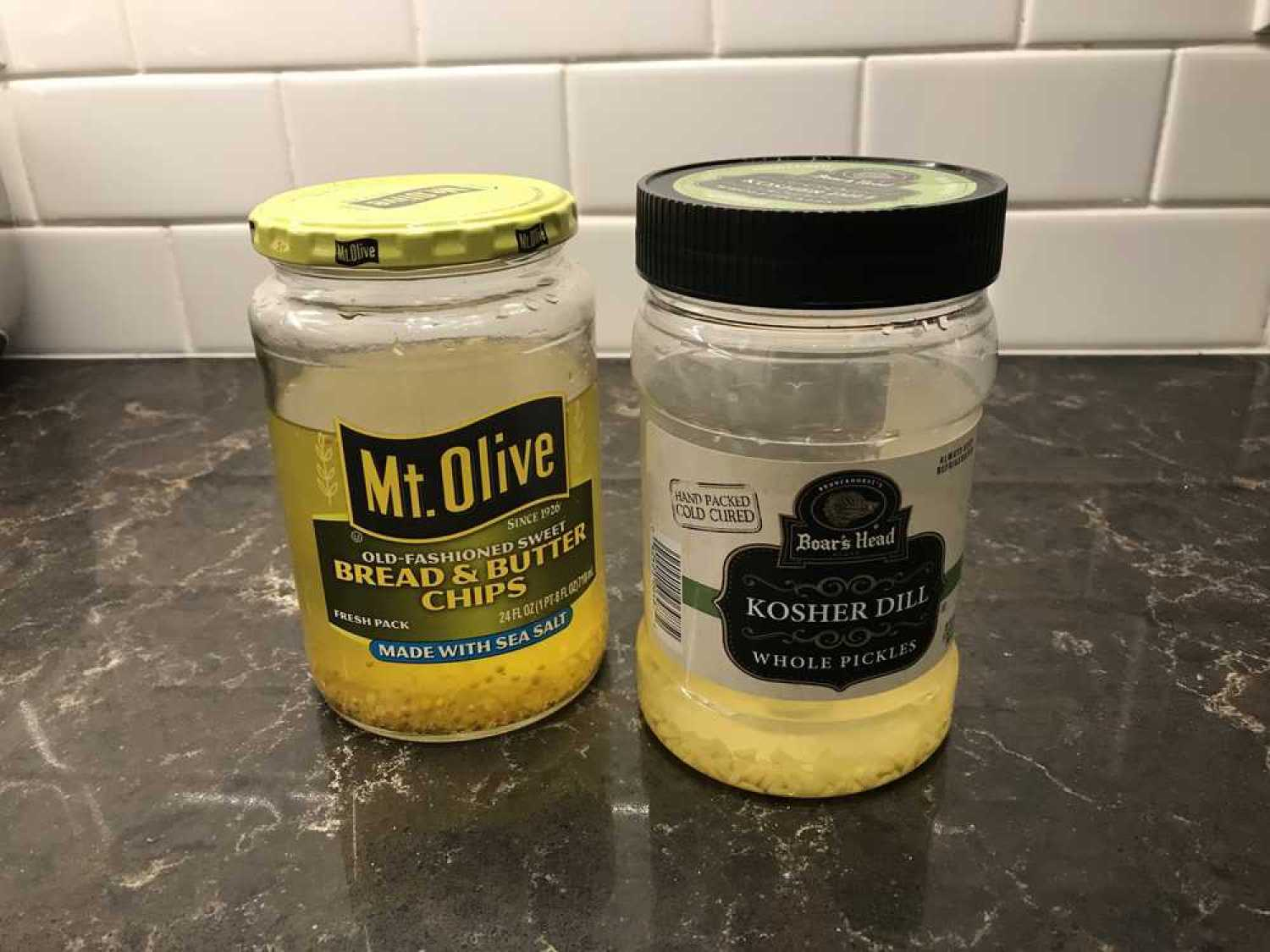 two-jars-of-pickle-juice-one-is-sweet-the-other-dill-and-please-dont-throw-them-out-because-pickle-juice-has-so-many-awesome-uses!