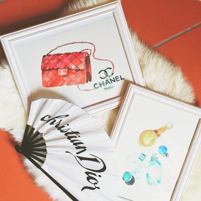 Work in progress w/ these beautiful prints: this Saturday is all about #diy