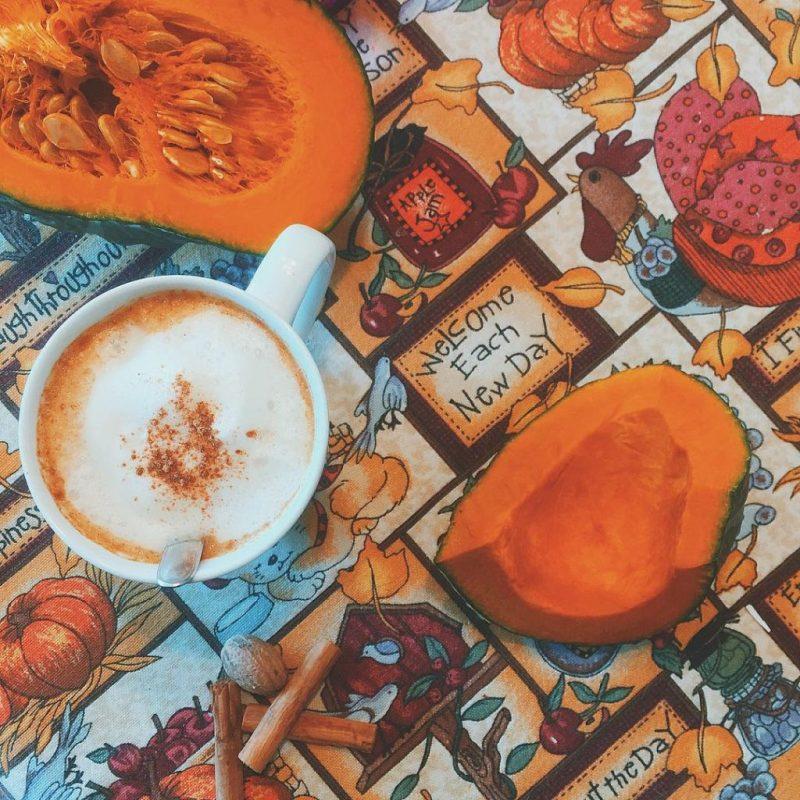 Super super delicious #vegan #pumpkinspicelatte  #pumpkin #cinnamon #almondmilk #espresso #ginger #nutmeg