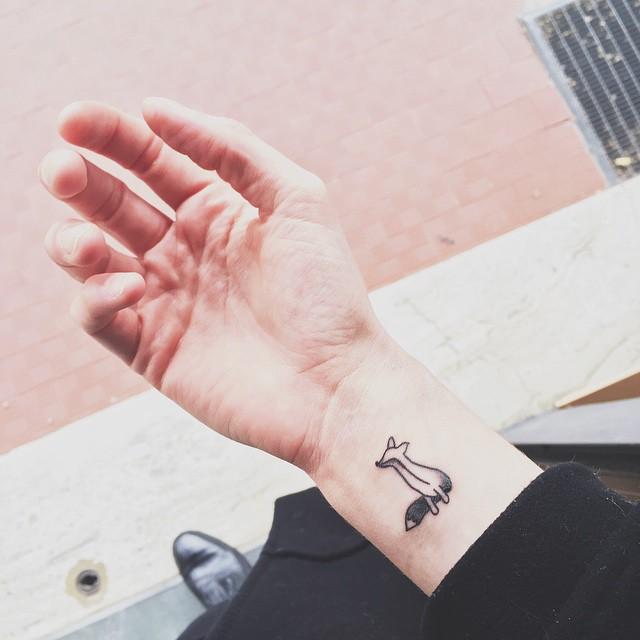 I won't travel alone. Never ❤️ #foxy #foxtattoo