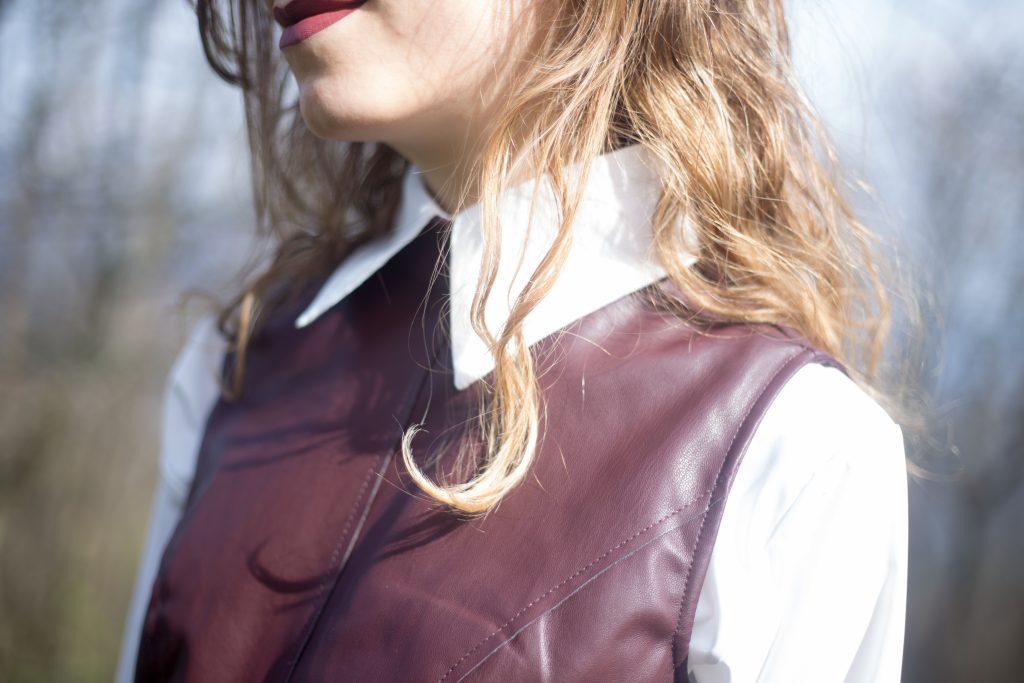 leather midi dress