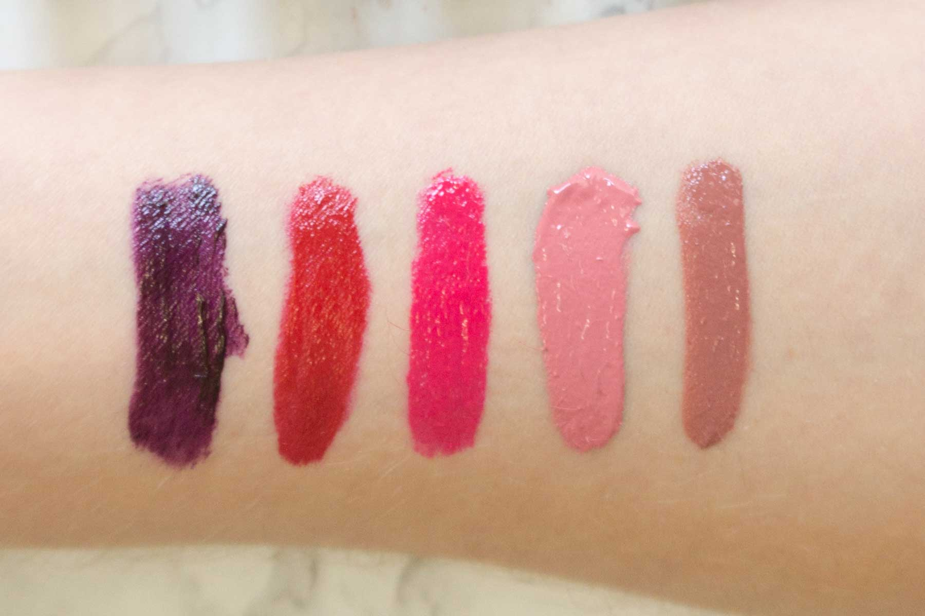 maybelline color drama swatches