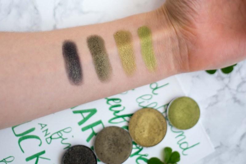 ombretti verdi swatches