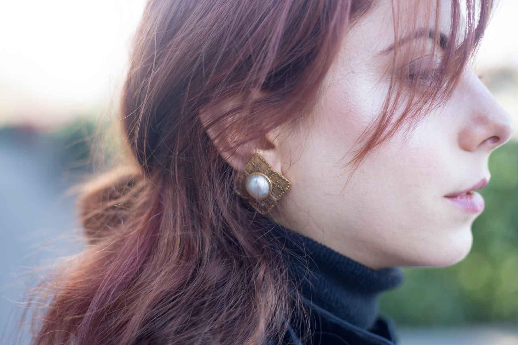 orecchini chanel vintage