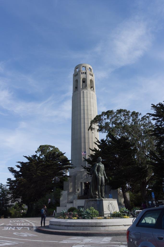 foto grandangolare coit tower